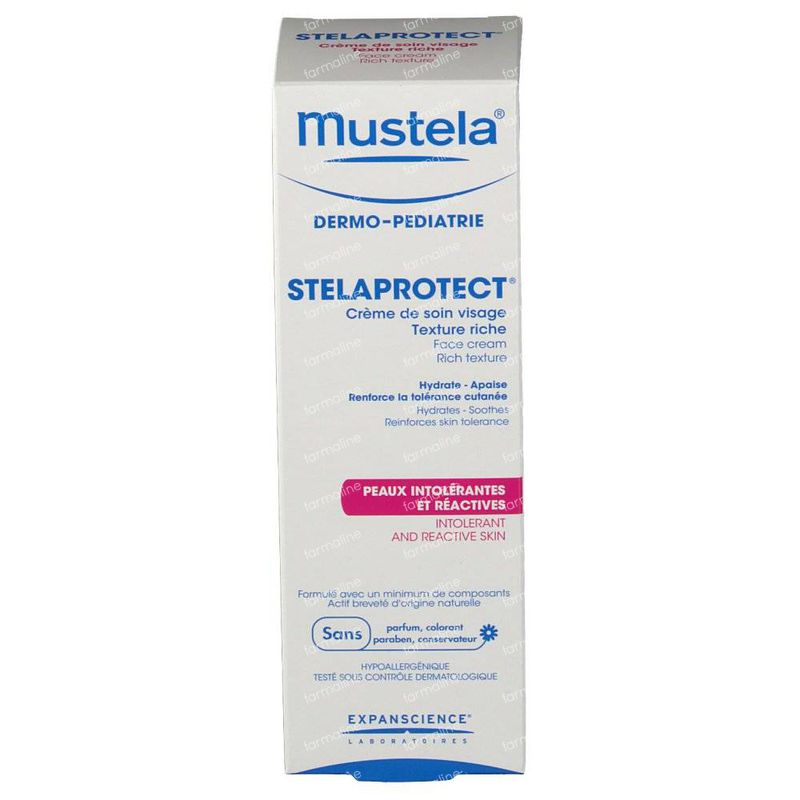 mustela stelaprotect cr me de soin visage 40 ml vente en ligne. Black Bedroom Furniture Sets. Home Design Ideas