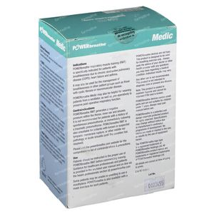 Powerbreathe Medic Ademhalingstrainer PB1000 1 stuk