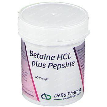 Deba Betaine Hcl + Pepsine V-Caps 60 capsules