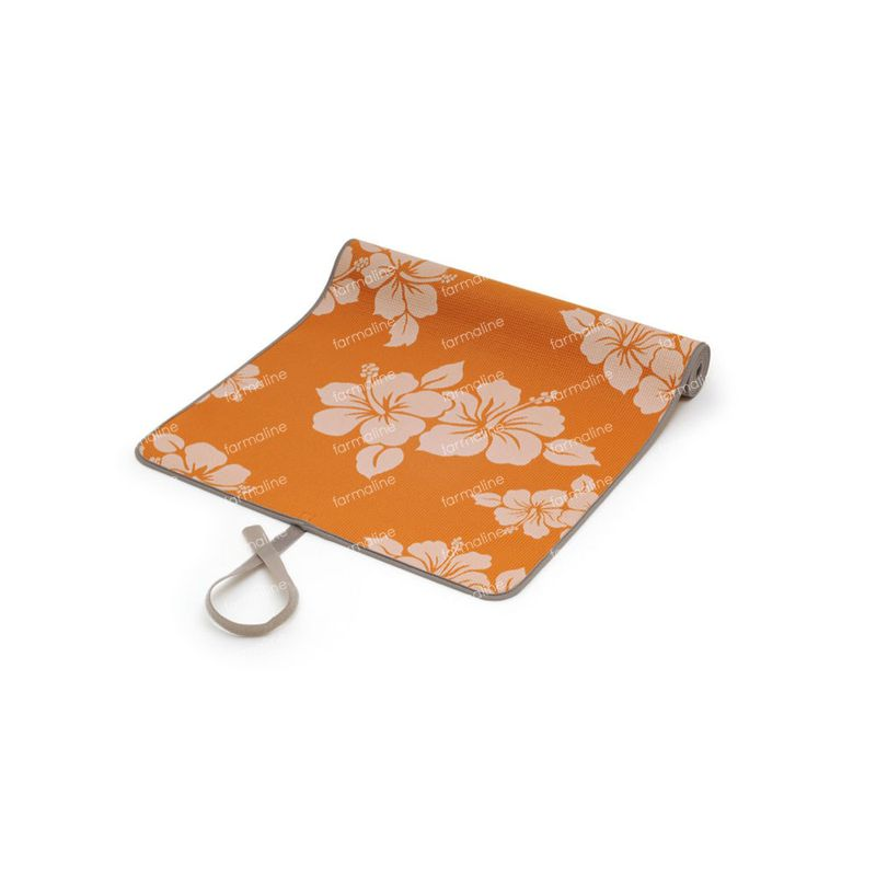 sissel yoga petit tapis orange motif fleurs 1 pi ce commander ici en ligne. Black Bedroom Furniture Sets. Home Design Ideas