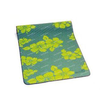 Sissel Yoga Petit Tapis Vert Motif Fleurs 1 pièce