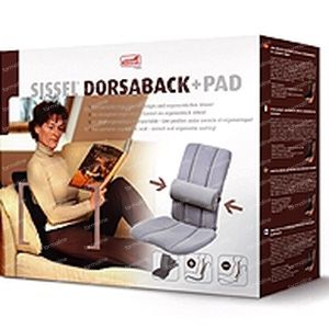 Sissel Dorsaback Back Support + Pad Gray 1 stuk