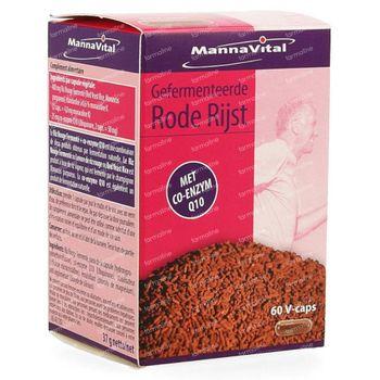 Mannavital Gefermenteerde Rode Rijst + Q10 60 capsules