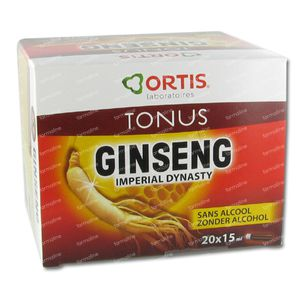 Ortis Ginseng Imperial Dynasty Bio Zonder Alcohol 300 ml