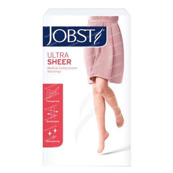 Jobst Ultrasheer Classe 1 Bas Cuisse Pied Ouvert Medium Natur 7542605 1 st