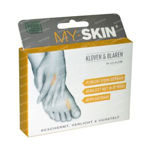 My-Skin Pansement Crevasses 6,0 x 2,0cm 8 pièces