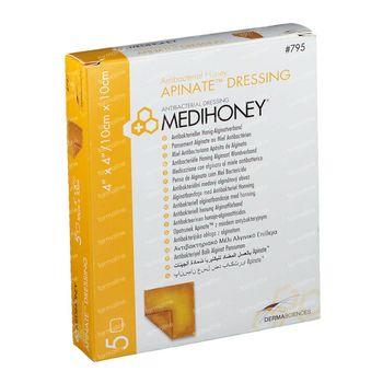 Medihoney Apinate Alginate Pansement 10cm x 10cm 5 pièces