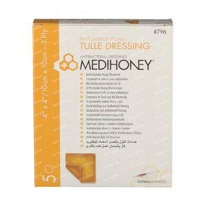 Medihoney Tulle Dressing 10cm x 10cm 5 stuks