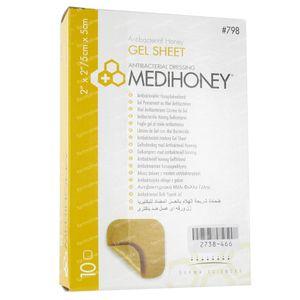 Medihoney Gel Sheet Dressing 5cm x 5cm 10 pieces