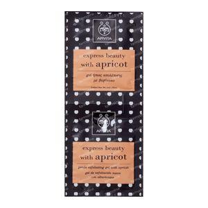 Apivita Express Zacht Exfoliërende Gel Met Abrikoos 2x8 ml