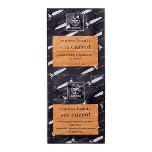 Apivita Gezichtsmasker Express Beauty Voedend & Regenererend Wortel 16 ml