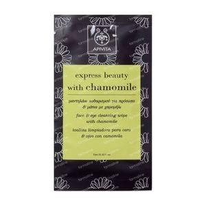 Apivita Express Lingette Nettoyante Pour Visage Et Yeux Au Camomille 5 ml