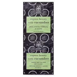 Apivita Express Intensief Hydraterend Masker Met Komkommer 2x8 ml