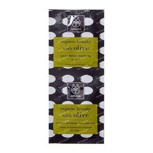 Apivita Express Intensief Exfoliërende Crème Met Olijf 2x8 ml