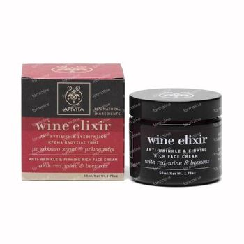 Apivita Wine Elixir Anti-Rimpel & Verstevigende Rijke Gezichtscrème 50 ml