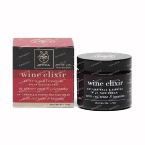 Apivita Wine Elixir Crème Riche Visage Anti-Rides & Raffermissante 50 ml