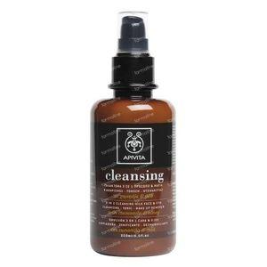 Apivita Cleansing Lait Nettoyant 3 En 1 Visage Et Yeux 200 ml bouteille