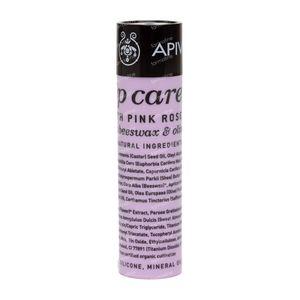 Apivita Lip Care Stick Pour Les Levres À La Rose 4 g tube