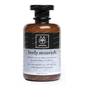 Apivita Body Nourish Bad & Douchegel Voor De Droge Huid 300 ml fles