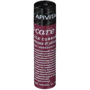 Apivita Lip Care Lipstick Met Zwarte Bes 4 g Tube