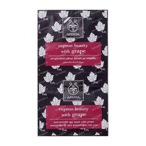 Apivita Express Anti-Wrinkle Eye Mask With Grape 2x2 ml