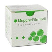 Mepore Film Rouleau 5cm x 10m Transparant 1 st