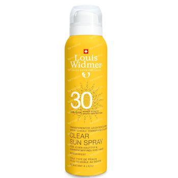 Louis Widmer Clear Sun Spray SPF30 Licht Geparfumeerd 125 ml