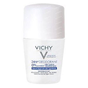 Vichy Déodorant Anti-Transpirant Toucher Sec 24h 50 ml rouleau