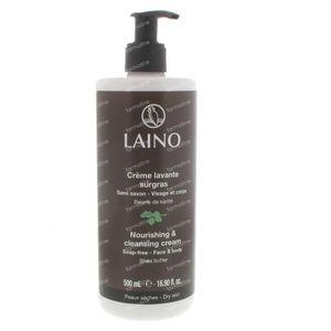 Laino Wascreme Overvet Karite Boter Pompfles 500 ml