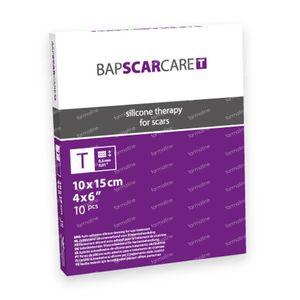 Bap Scar Care T Pansement Transparent Silicone Cicatrice 10X15Cm 601015 10 St