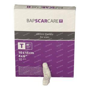 Bap Scar Care T Transparant Siliconen Littekenverband 10X15Cm 601015 10 St