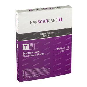 Bap Scar Care T Pansement Transparent Silicone Cicatrice 10X15Cm 601015 10 pièces