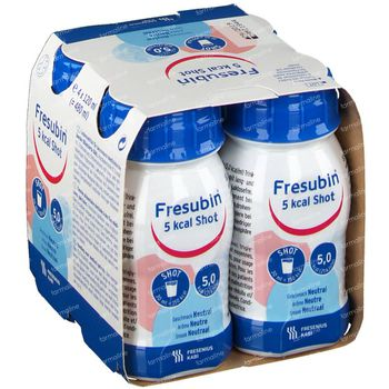 Fresubin 5 Kcal Shot Neutre 4x120 ml