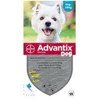 Advantix 100/500 Spot-On Oplossing Hond 4<10kg 6x1,0 ml
