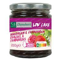 Damhert Dieetconfituur Aardbei/Framboos Low Carb 210 g