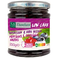 Damhert Confiture Diététique Groseilles Rouges/Myrtilles Low Carb 210 g