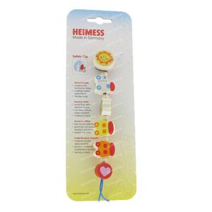 Heimess Wooden Pacifier Clip Train 1 item