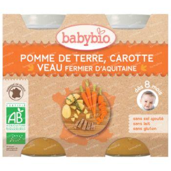 Babybio Bipack Légumes-Veau 2x200 g
