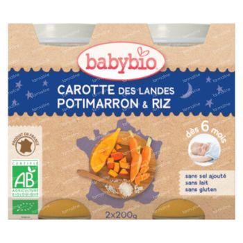 Babybio Bipack Wortel-Pompoen-Rijst 2x200 g