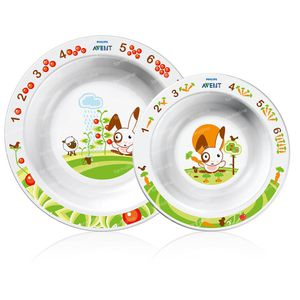 Avent Plate 2 Sizes +6m 2 pieces