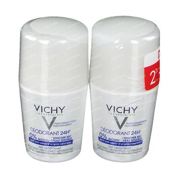 Vichy Deodorant Dry Touch 24h DUO 2x50 ml roller