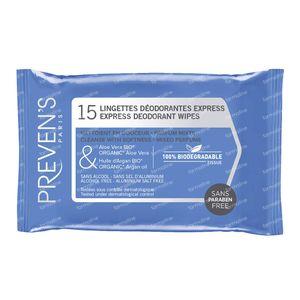 Preven's Tissue Deodorant 15 sachets