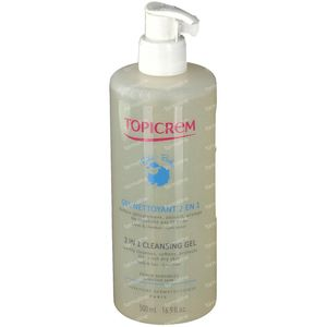Topicrem 2-in-1 Cleansing Gel Organic Baby Care 500 ml