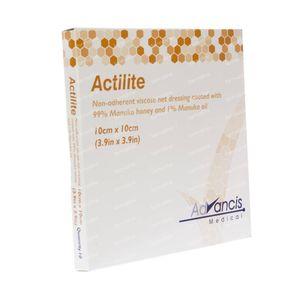 Actilite Verband Niet Klevend 10cm x 10cm 10 stuks