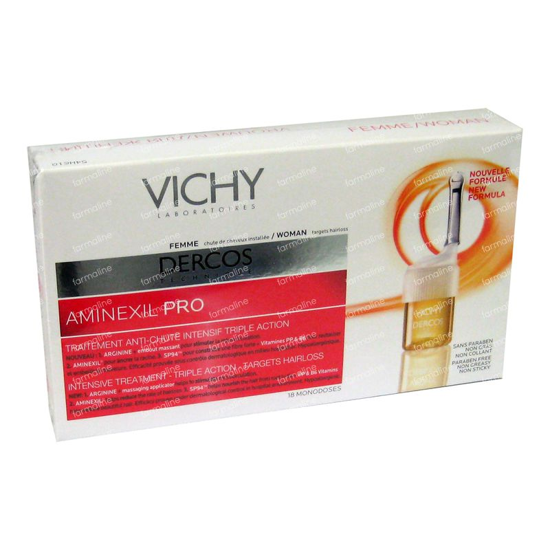 vichy dercos aminexil sp94 traitement anti chute pour femme 108 ml ampoules commander ici en. Black Bedroom Furniture Sets. Home Design Ideas