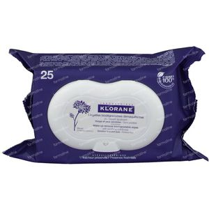 Klorane Facial Cleansing Wipes With Soothing Cornflower 25 pieces