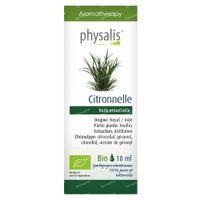 Physalis Citronelle de Java Huile Essentielle Bio 10 ml