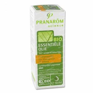 Pranarom Citronnelle Madagascar Bio Essentiële Olie 10 ml