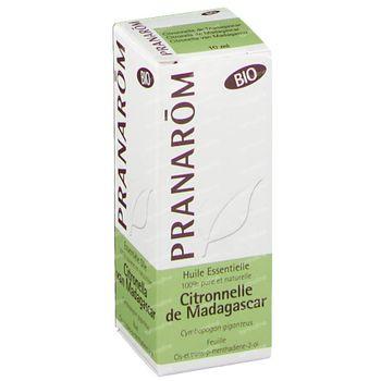 Pranarom Citronnelle Madagascar Bio Huile Essentielle 10 ml