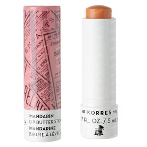 Korres Lip Butter Stick Mandarin SPF15 Peach 5 ml